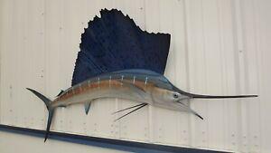 "84"" Sailfish Half Fish Mount Replica - 2 Week Production Time"