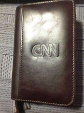 Cutter & Buck ZIPPERED nail or lipstick Chestnut case  w/ CNN EMBLEM, gift box!