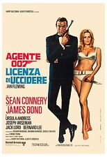 James Bond: * Dr. No *  Sean Connery Italian Poster R-1972 Large Format 24x36