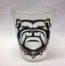 "University of Georgia "" Bulldogs""  Frosted Shot Glass"