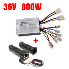 36V 800W Electric Motor Brush Controller Box + Throttle Grip for Go Kart Atv Us