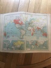 Early 1900s, The British Empire Map, Bartholomew, XXth Century Citizen's Atlas