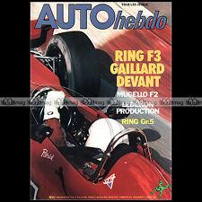 AUTO HEBDO N°116-b ALFASUD 1500 TI SPRINT PATRICK GAILLARD RICARDO PATRESE 1978