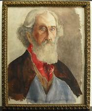 Portrait d'un vieil homme aquarelle  Portrait of an old man watercolor 55 cm