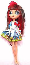 """Spin Master La Dee Da Doll 10"""" City Girl Brown/Red Hair Clothes 2010 Mattel"""