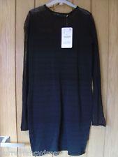 Zara Knit Ladies Black Dress Size S Small NEW (tags) RRP £49.99 (Ref Z)