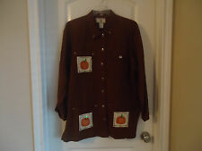 Outback Rider Size M Fall Thanksgiving Brown Jacket 100% Cotton