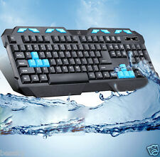 Pro Gaming wireless 2.4G keyboard and Mouse Set to computer Multimedia Gamer US