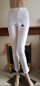New White pull On Denim Style Basic Jeggings Size:10-18