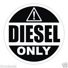 """3"""" Diesel Only Vinyl Decal / Sticker / Label Fuel Door Label Can Tank Truck"""
