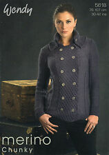 ~ Knitting Pattern For Lady's Smart Military-Style Jacket  ~