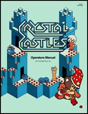 Crystal Castle Arcade Video Game Full Service & Repair Operations Manual Book Tb