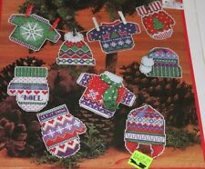 Dimensions Cross Stitch Kit Christmas Ornaments Warm Cozy Ugly Sweater more