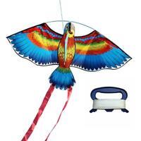 NEW Kites For Kids Children Lovely Cartoon Parrot Flying Line With Kites X9I8