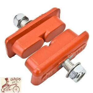 KOOLSTOP CONTINENTAL SALMON THREADED BICYCLE BRAKE PADS