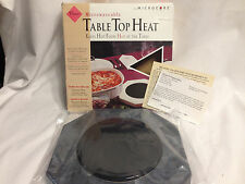Vesture Microwaveable Dark Marble Slate Color Table Top Heat With Microcore!!