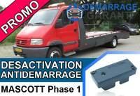 Clé de désactivation d'anti démarrage Renault MASCOTT PHASE 1