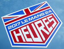LE MANS 24 HOURS 2017 LARGE PAIR of stickers decals UNION JACK easy apply vinyl