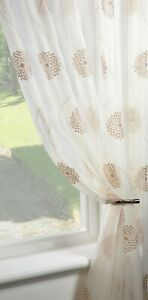 "CLEARANCE  ""Dahlia Gold"" Single Voile Patterned Panels Slot Top - Free Postage"