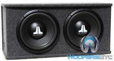 "JL AUDIO CS212-WXV2 CAR 12"" LOADED SUBWOOFERS SPEAKERS ENCLOSURE BASS BOX NEW"