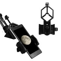 Telescope Cell Phone Mount Adapter Eyepiece 25mm-48mm Spotting Scope Clip Clamp