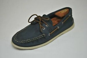 Blue Suede Sperry Top Sider Shoes Men's 11.5 Boat Deck