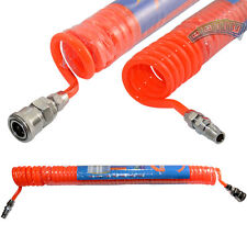 6M 8mm x 5mm PU Recoil Hose Air Compressor Pipe Gun Assembly w/ Quick Connector