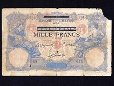 Tunisia 1000  Francs 1892 (1942-1943)   P-31