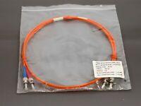 Fibre optic patch cord LSOH multi-mode 1m duplex orange cable - new & warranty