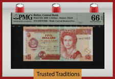 TT PK 67d 2009 BELIZE 5 DOLLARS BEAUTIFUL QUEEN ELIZABETH II PMG 66 EPQ GEM UNC!