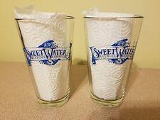 SweetWater Crank Tank Pint Glasses Set 2 Atlanta,Georgia Craft Beer Sweet Water