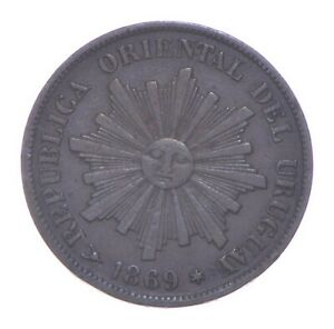 Better - 1869 Uruguay 1 Centesimo *463