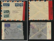 Israel  and  Palestine   censor covers  to  US        MS0131