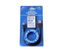 Batterie 2000mAh Li-ion 3.7v + cable usb de charge pour manette Playstation PS4
