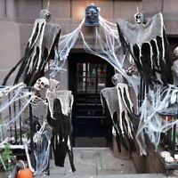 Halloween hanging ghost skulls funny trick death scary prop door decoration