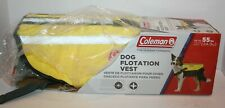 Coleman Dog Flotation Vest Life Jacket w/Rescue Handle for Dogs Med up to 55lbs