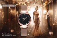 FASHION WOMEN WATCHES LADIES MAGNETIC DIAMOND STARRY SKY CLOCK FREE SHIPPING