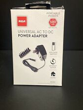 RCA Universal Ac To Dc Power Adapter 120 Volts 500mA Power Supply With 7 Tips