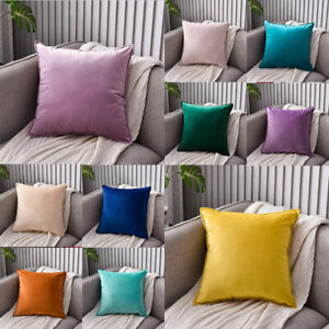 Solid Pillow Covers Winter Soft Velvet Pillowslip Sofa Cushion Covers Pillowcase