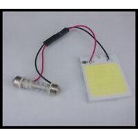 1× 48SMD COB White Panel LED T10 Car Interior Panel Light 12V Dome Lamp Bulb 4W~