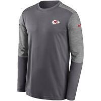 2020 Kansas City Chiefs Nike Sideline Coaches UV Performance Long Sleeve T-Shirt