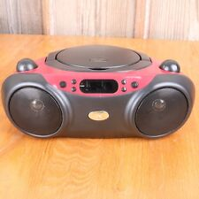 GPX BC232R Red CD/CD-RW Playback Radio CD-R Playback Boombox Battery Wall Stereo