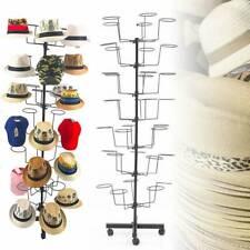 Rotating Hat Display Rack Free Standing Metal Floor Caps Headwear Stand 7 Tier