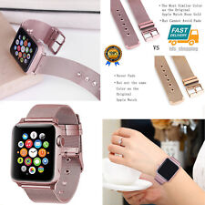Apple Watch Strap Band 38mm Stainless Steel Buckle iWatch Series 1 2 3 Rose Gold