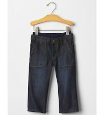 GAP Baby Boy 3-6 Months NWT Playdate Straight Pull-On Carpenter Blue Jeans Pants