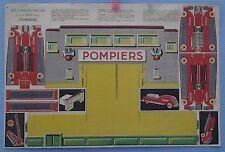 carton ancien à découper CASERNE DE POMPIERS  éditions BIAS Paris