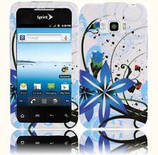 For LG Optimus Elite LS696 HARD Protector Case Snap On Phone Cover Blue Splash