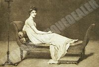 Engraving Xixè Louis David Mrs.Recamier Felix Jasinski the Masterpieces Of Art