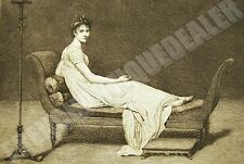 GRAVURE XIXè Louis DAVID Mme RECAMIER Félix JASINSKI les chefs-d'oeuvre de l'art