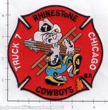 Illinois - Chicago Truck 7 IL Fire Dept Patch - Rhinestone Cowboys
